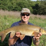 Andy and a 8lbs 15oz barbel