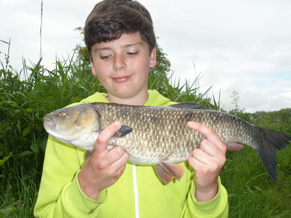 Henry with his 4lb chub a