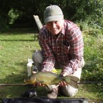 Phil with late season tench