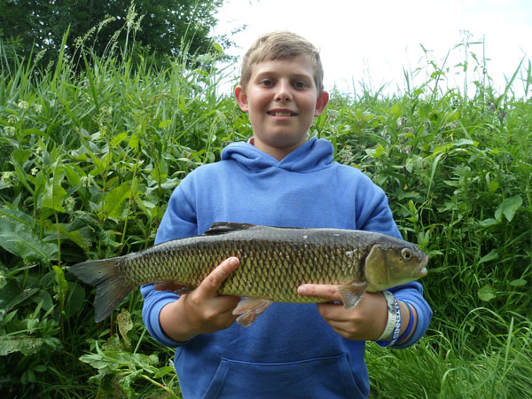 Sam with a 3lb chub a