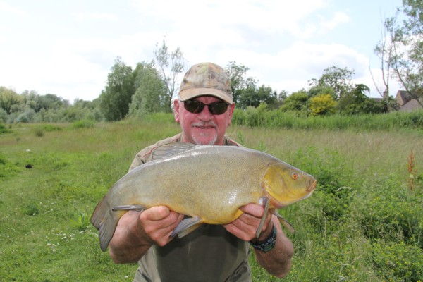 Graham and his new pb of 7lbs 5oz