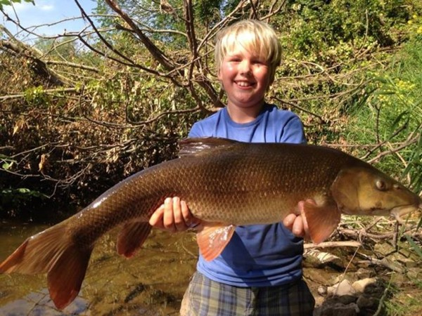 Alex with a 10lbs 7oz barbel