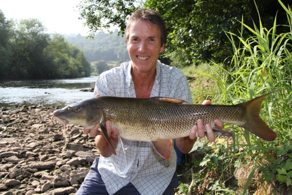 John with a 8lbs 13oz barbel
