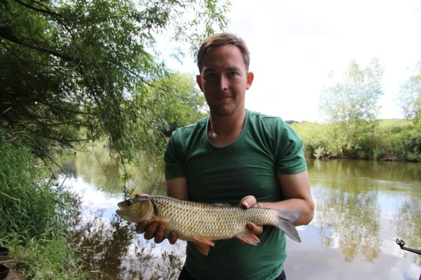 James with a 3lbs plus chub
