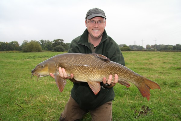 Jim and his 12lbs 3oz pb barbel