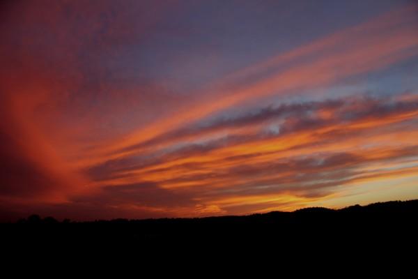Wow what a sun set!