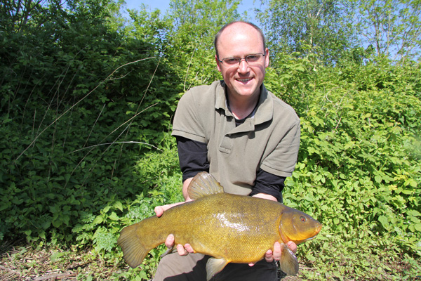 Jim and a 7lb 14oz tench