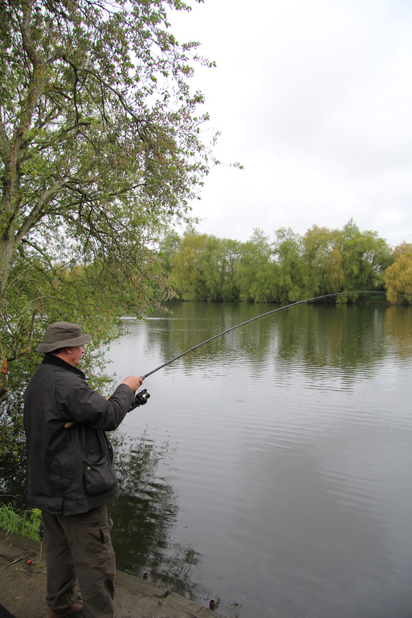 Tom playing a Tench
