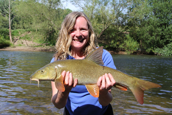 Karen and a 4lb barbel