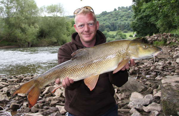 Lee with a 7lbs 8oz barbel