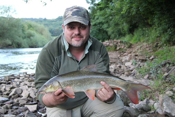 Paul and a small barbel
