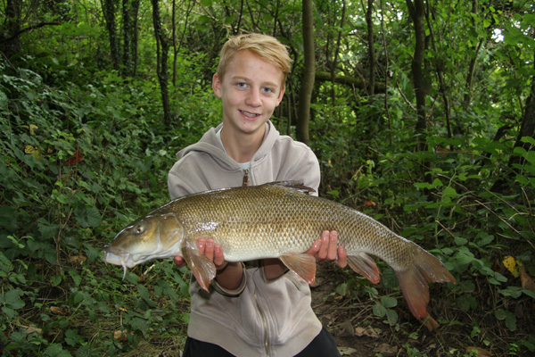 Charlie with a great barbel a