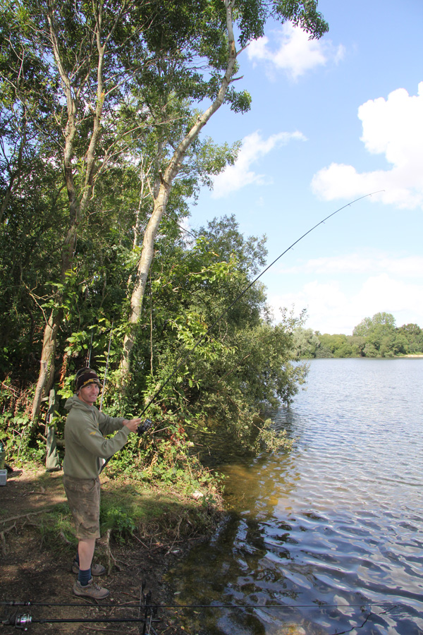 Mark playing a tench