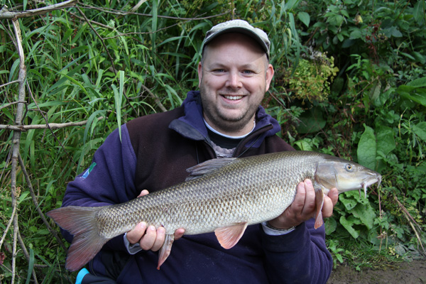 Matt and a 7lbs 10oz barbel