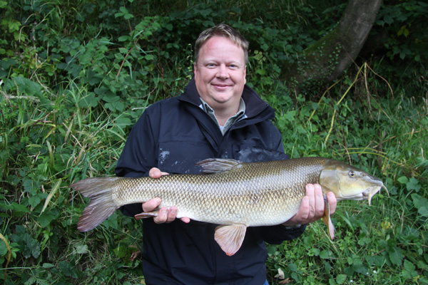 Mike and his 10lb barbel