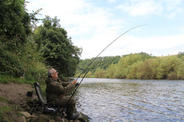 Geoff playing one of his 18 barbel