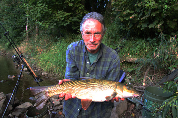 Jeff with a 7lbs 6oz barbel
