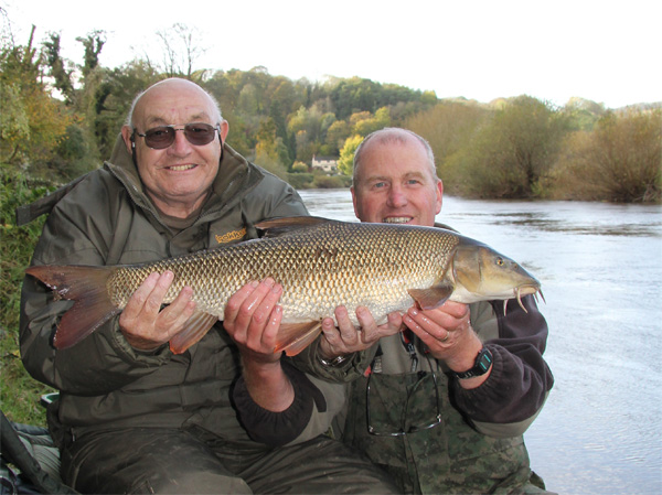 Ron and his 9lbs 10oz barbel
