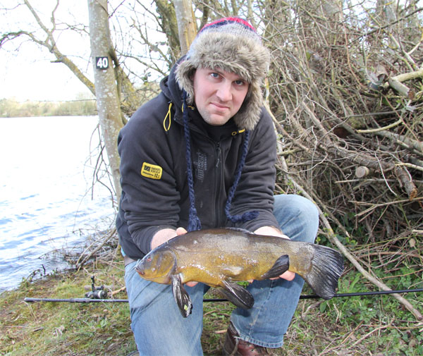 Luke with a nice tench