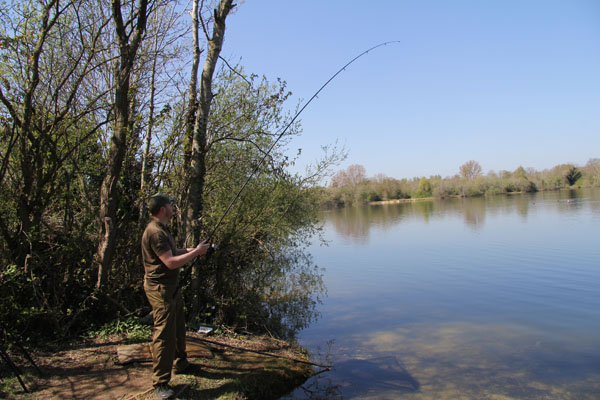 Playing a tench