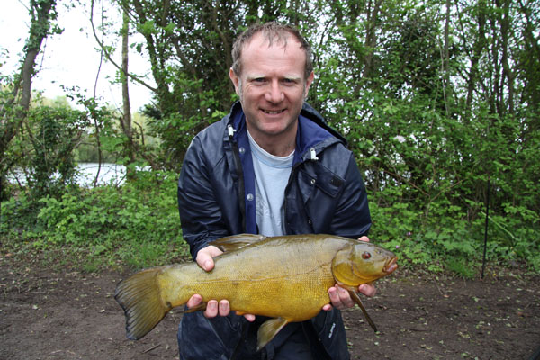 Dominic with a fine tench