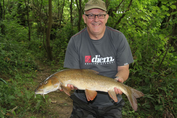 Bill and his 7lbs 8oz barbel