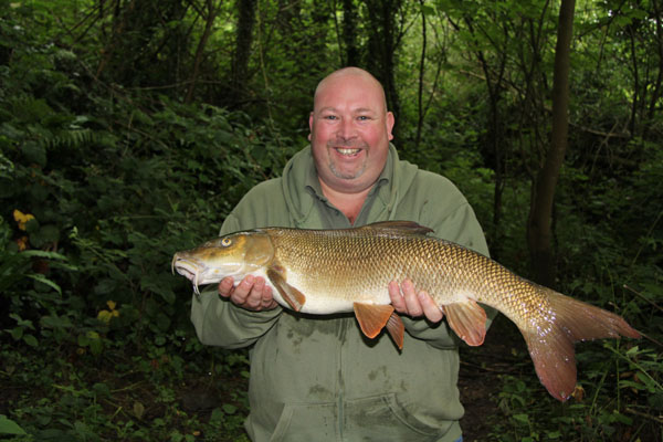 Carl and his 9lbs 1oz barbel