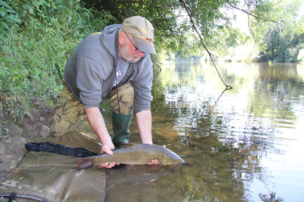 Mike just returning a rsted barbel a