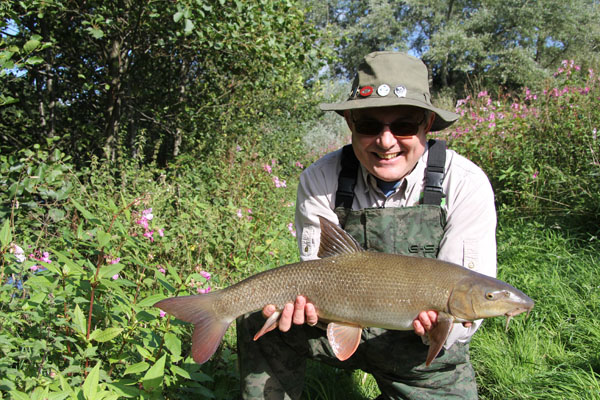 Steve with his 8lbs 8oz barbel