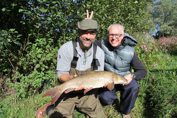 Another 8lb plus barbel for Brian a