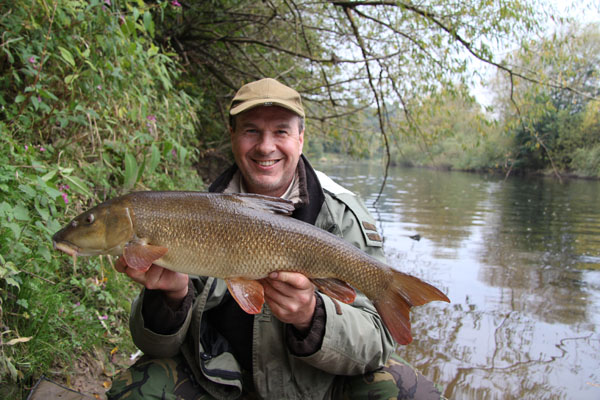 Andy and a 7lb barbel