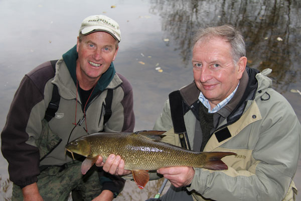 Roger and his first barbel