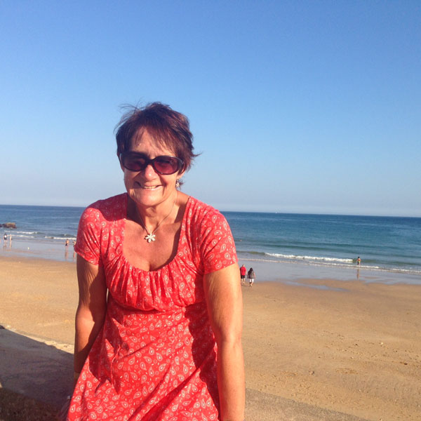 Mrs P in the sun shine
