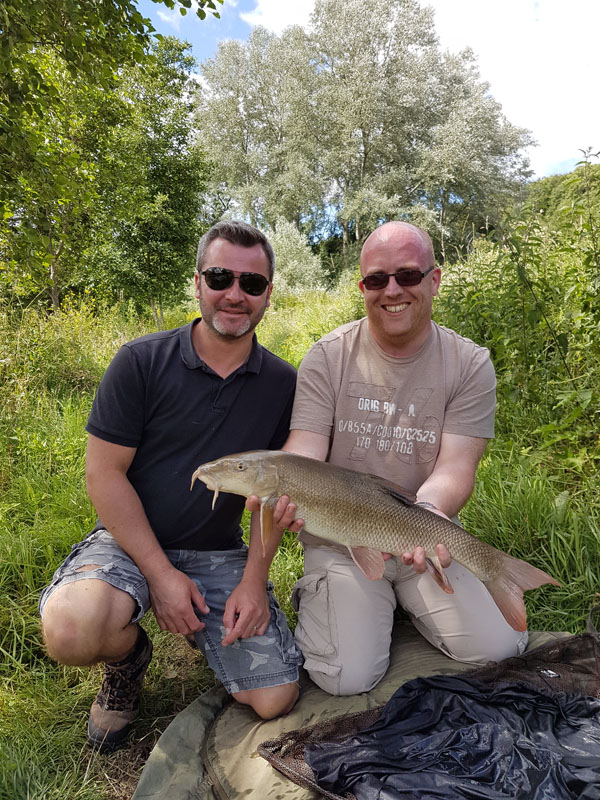Two very happy anglers