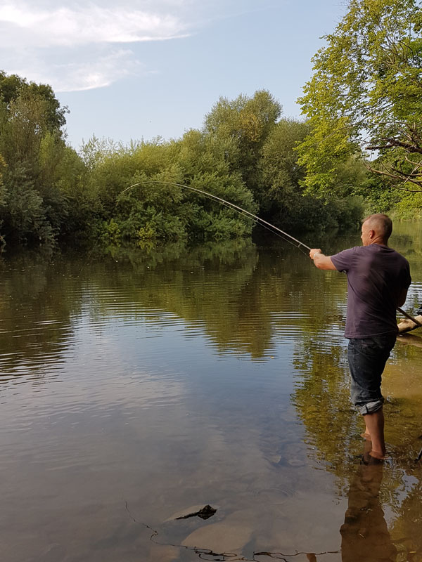 Paul playing a good barbel
