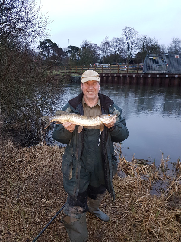 Andy with the same pike